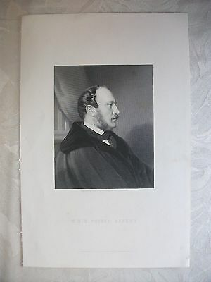 Antique Print Engraving of Prince Albert by W. Holl c1880