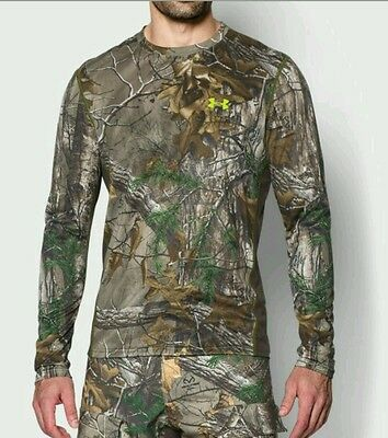 Under Armour Realtree AP-XTRA Scent Control Shirt Mens Heatgear Loose L 2XL 3XL