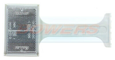 Genuine Ifor Williams Trailer White Clear Front Stalk Reflector P0693