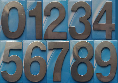 New Self Adhesive House Numbers Hotel House Door Stainless Steel No 0-9 UK Stock