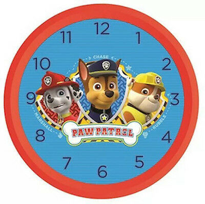 """Official New 10"""" Red Paw Patrol Skye Wall Clock Childrens Clock Bedroom Clock"""