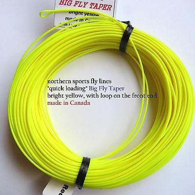 WF-9-F FLY LINE (big fly taper) WITH LOOP Northern Sports Made in Canada