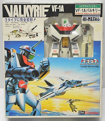 VF-1A MACROSS VALKYRIE COMPLETE BANDAI HI-METAL 1/55 ROBOTECH Great Shape!