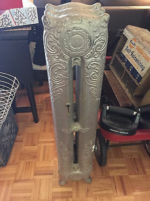 Antique Cast Iron Radiator Tall Ornate Decorative Local Pickup Only