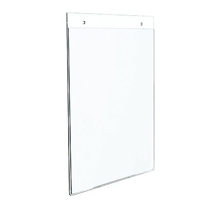 "Dazzling Displays 10 Acrylic 8-1/2"" x 11"" Wall Mount Sign Holders"