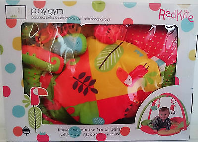 Red Kite Safari Play Gym padded, petal shaped play gym with hanging toys