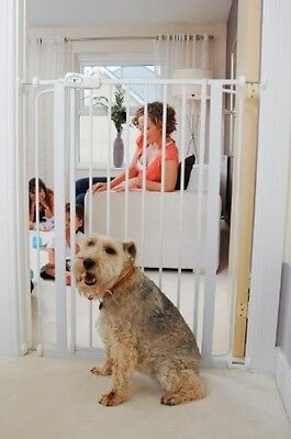 Extra Tall Baby Gate Toddler Child Dog Pressure Fit Safety Stair Doorway Barrier