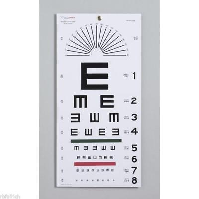 """Tech-Med Illiterate 22"""" x 11"""" Eye Test Chart 3051 Matte Finish for 20ft Distance"""