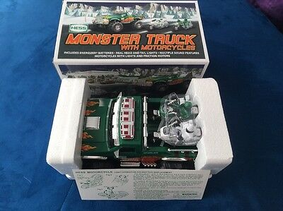 Hess 2007 Monster Truck W/ 2 Motorcycles NIB Collector Ready See Pics
