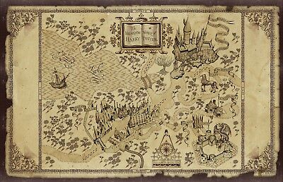 Harry Potter Map Movie Poster Print T150 |A4 A3 A2 A1 A0|