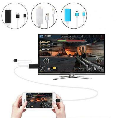 """2M Lighting To HDMI/HDTV AV TV Cable Adapter For Apple iPad iPhone 5S 6/6S Plus"""""""