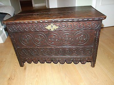 Small Carved Oak Chest/Coffer ? 1700 or earlier