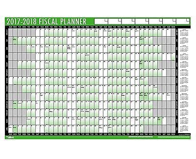 2017 Large A1 Staff Holiday Year Wall Planner with pen and stickers - 3808