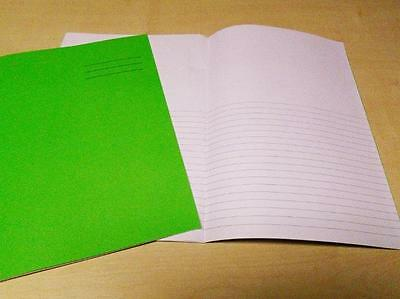 100 x Cambridge Exercise Book Top Plain Bottom Lined 32 Pages A4 Green 100106030