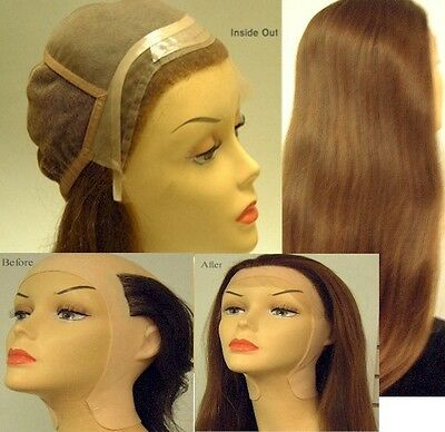 "16"" - 18"" Lace Front Full Cap Wigs - Yaki Straight Human Hair Pieces"