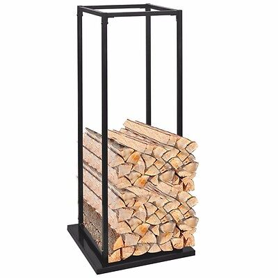 Fireside Wood Log Storage Fireplace Firewood Store Logs Solid Rack Accessory