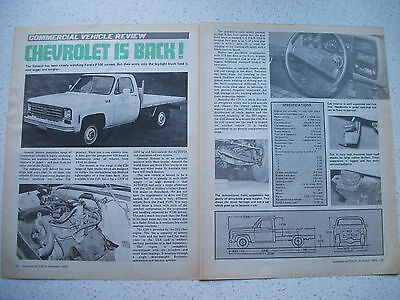 1975 Chevrolet C20 Truck 2 Page Australian Magazine Preview Article