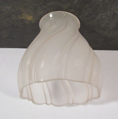 "Antique vtg unusual curve Sheffield light fixture sconce shade 2 1/4"" fitter"