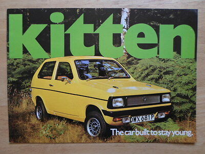 RELIANT KITTEN SALOON & ESTATE 1975 UK Mkt Sales Brochure