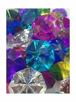 72 Assorted Color Acrylic Large Diamond Gems (32mm x 24mm) By Sunrise ... NO TAX
