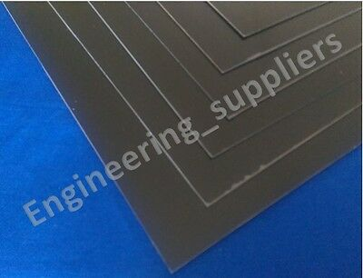 Black Plasticard Sheet High Impact Polystyrene HIPS A5-A3, 0.5mm-1mm (Matt/Matt)