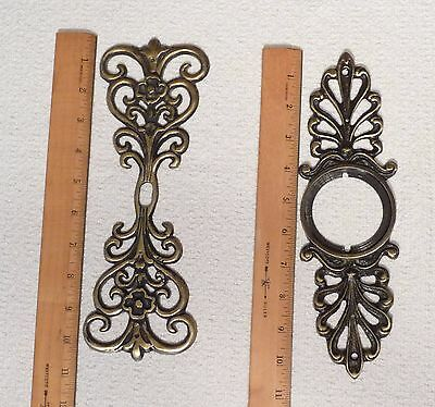 Two Door Backplates One For A Door Knob and One For Decoration or A Keyhole