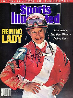 Julie Krone Autographed May 22, 1989 Sports Illustrated