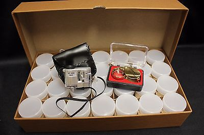 Rock Mineral Fossil Agate Storage Box Collector Starter Kit Microscope Magnifier