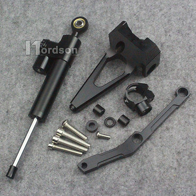 Steering Stabilizer damper With Bracket For 13-16 YAMAHA MT-09 FZ-09 14 15 Black