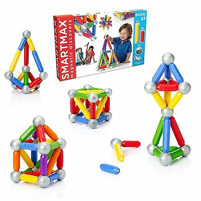 NEW Smartmax XL Basic 42 pcs. MAGNETIC Building Set by Smart Games SMX501