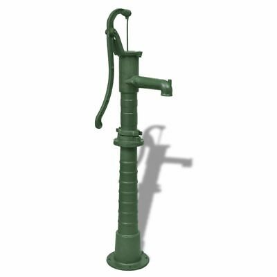Garden Water Pump with Mounted Stand Base Pool Cast Iron Green High Quality