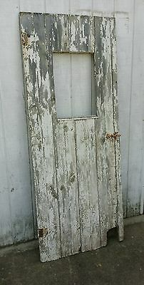Vintage Wood Barn Door Architectural Salvage Deco Shabby Sliding Door