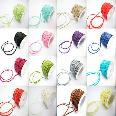 Natural Sisal Rope Hemp Craft Twisted Twine Braided Rope Cat Scratching B173H