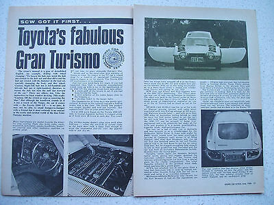 1968 Toyota 2000 Gt 4 Page Australian Magazine Road Test