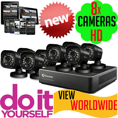 Swann DVR8-1580 CCTV 1TB 8x PRO-T835 Cameras Security System Surveillance Camera