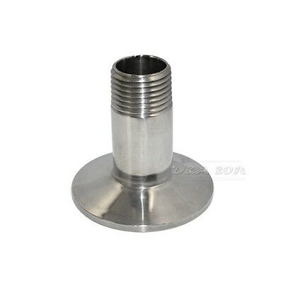 """1/2"""" DN15 Sanitary Male Threaded Ferrule Pipe Fitting Tri Clamp Type SS304"""