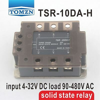 TSR-10DA-H Three-phase input 4-32V DC load 90-480V solid state relay