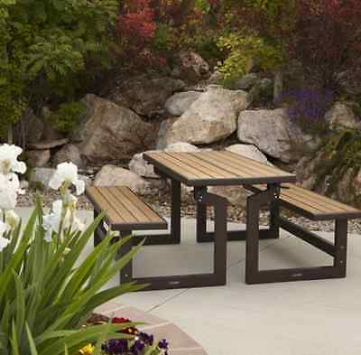 BRAND NEW Patio Lifetime Convertible Bench weather-resistant wood