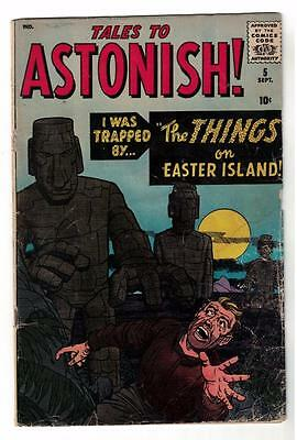 Marvel Comics VG- #5  4.0 KIRBY TALES TO ASTONISH 1959 THINGS EASTER ISLAND