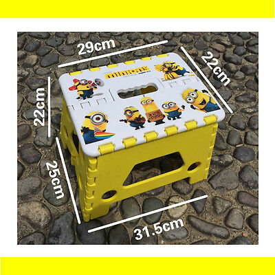 Kids Children Step Sturdy Flat Stool Foldable Portable Outdoor Camping Yellow