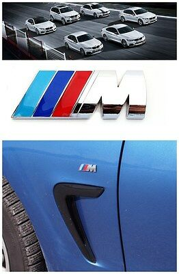 2 X M-Sport for BMW Car 3D Self-adhesive Door Wing Logo Emblem Badge Small