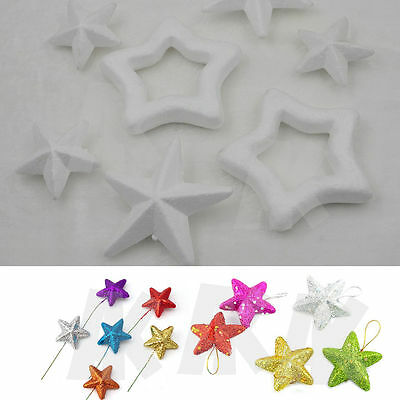 Polystyrene Styrofoam Star Foam Accessory DIY Handmade Decorations Party New