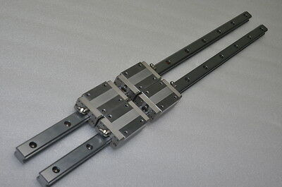 THK Linear Bearing LM GUIDE HSR20RM 639mm 2Rails 4Blocks NSK IKO