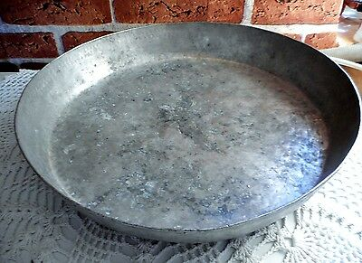 Antique Ottoman Turkish Copper Baking Dish, Tray  Hand Hammered Solid Copper