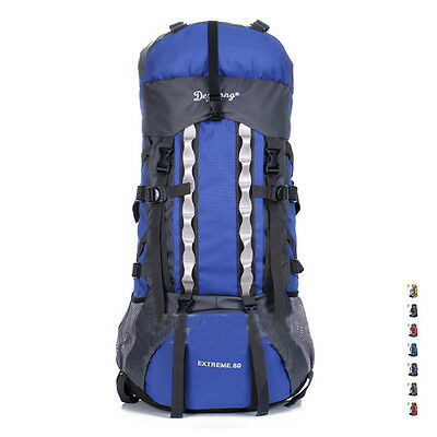100L Camping Backpacks Bag Camping Hiking Travel Outdoor Gear 7 colors 80L+20L