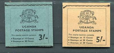 Uganda 1965 Stamp Booklets Birds 3s and 5s SB2/3 mint