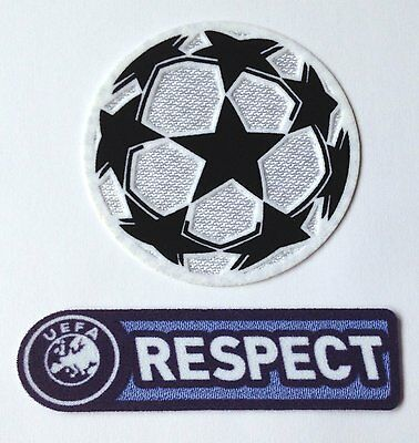 Uefa Champions League Star Ball + Respect 2008-2012 Football Patch Set Badges