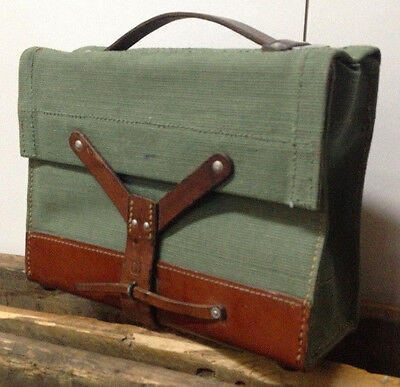 Good Condition Vintage Swiss Army Military Ammo Bag Bicycle Pannier