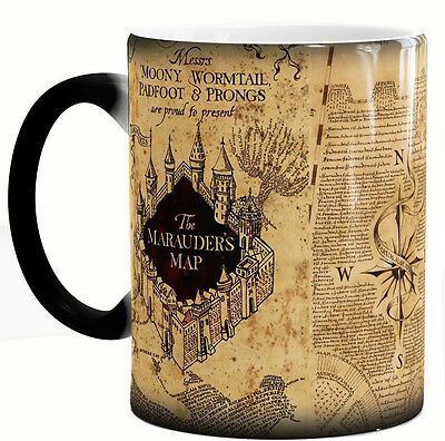 Tasse Harry Potter Marauders Carte de changement de couleur Tasse magique Meille