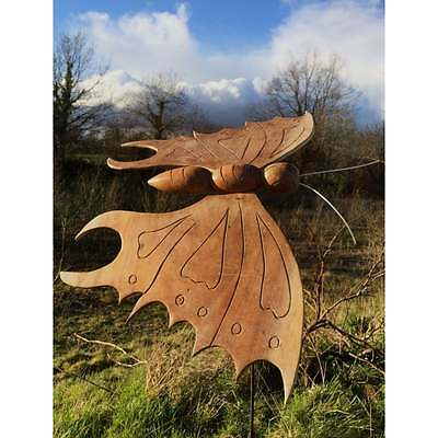 Large Fairtrade Suar Wood Butterfly on Stake - C
